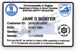 Virginia Boating Card