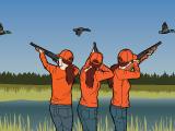 Lead shotgun